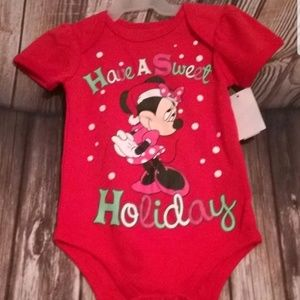 Other - Minnie Mouse Have A Sweet Holiday Baby bodysuit